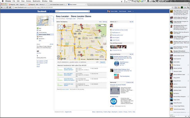 facebook page screenshot